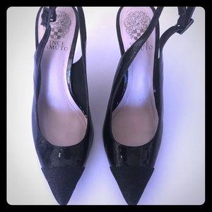 Black Slingback Heels by Vince Camuto